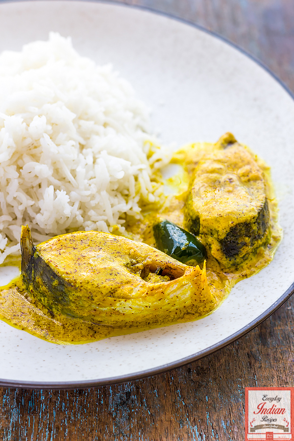 Shorshe Bhapa Ilish