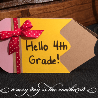 Back to School Handcrafted Card