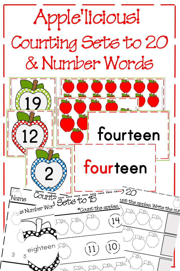 Apple'licious! Counting Set and Number Words 0 - 20