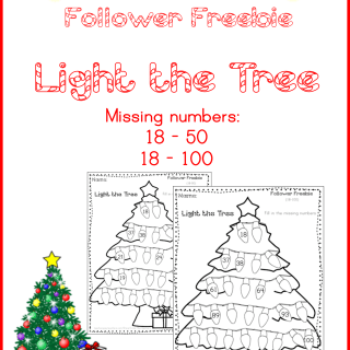 Follower Freebie: Light the Tree Missing Numbers