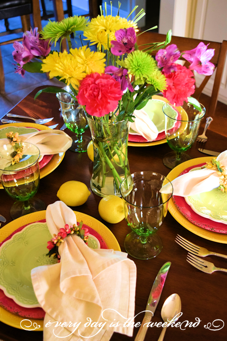 Summer Lunch with Friends tablescape