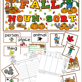 Fall Noun Sort Printables