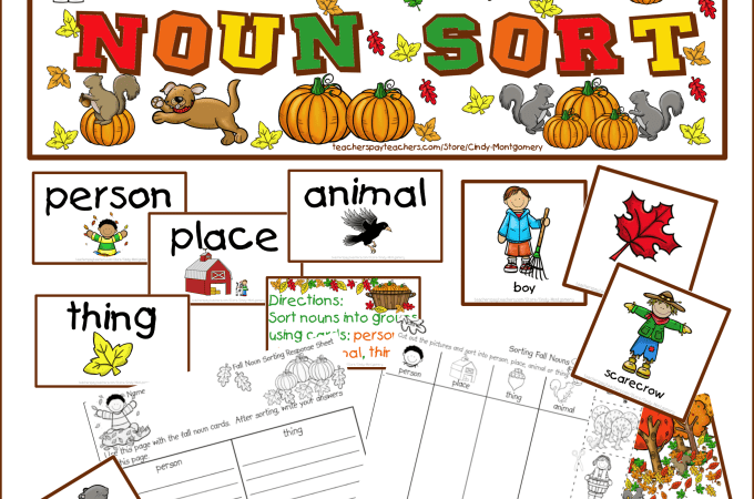 Fall Noun Sort