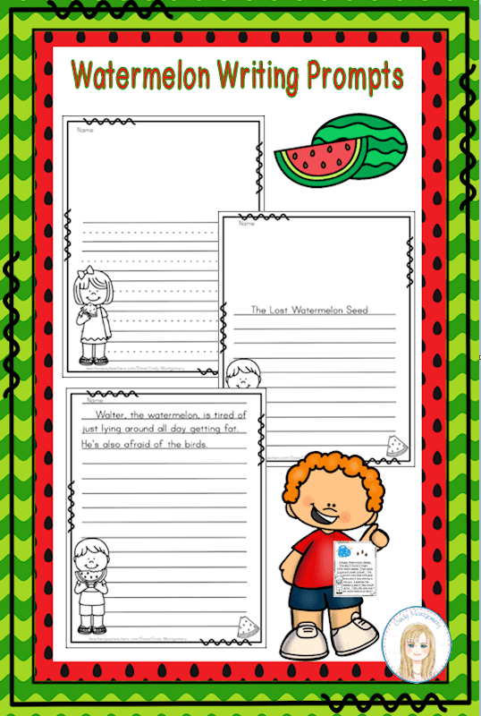 Watermelon Writing Prompts FREEBIE
