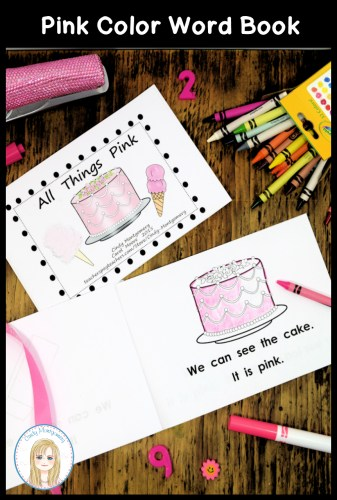 All Things Pink Color Word Book Emergent Reader