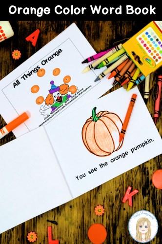 All Things Orange emergent reader