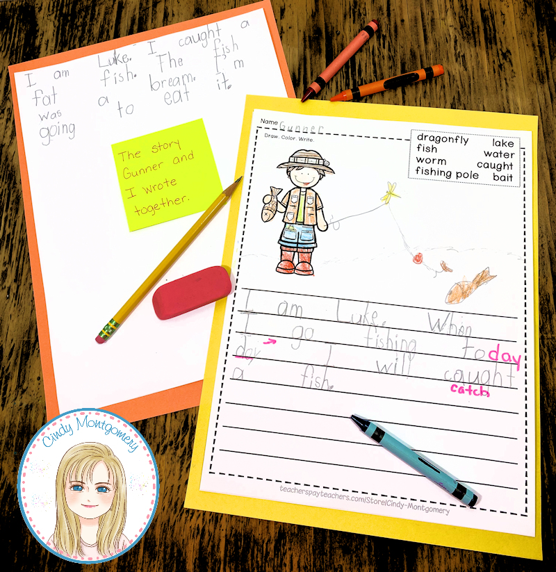 sample kindergarten writing