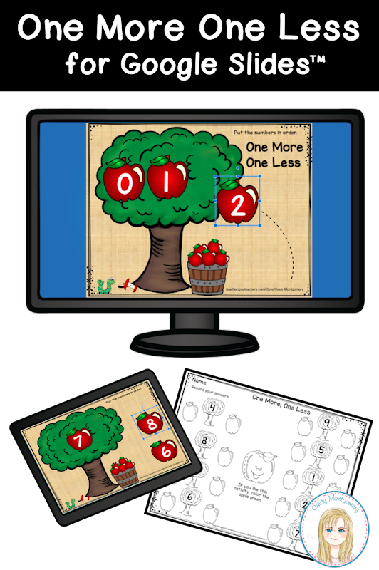 Apples One More One Less Digital Learning Resources for Kindergarten and First Grade
