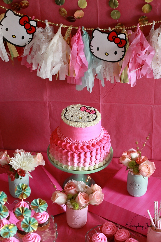 Astonishing Hello Kitty Birthday Party Everyday Jenny Funny Birthday Cards Online Inifodamsfinfo