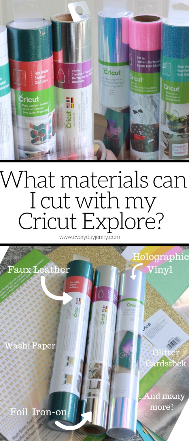 Learn all about the different kinds of materials you can cut with your Cricut Explore!
