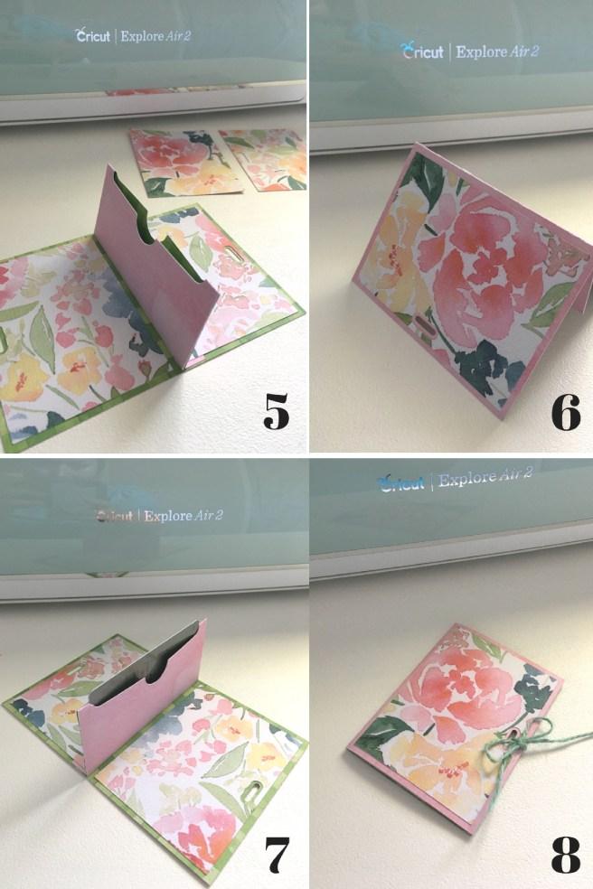 Cricut Gift Card Holder Steps 5-8