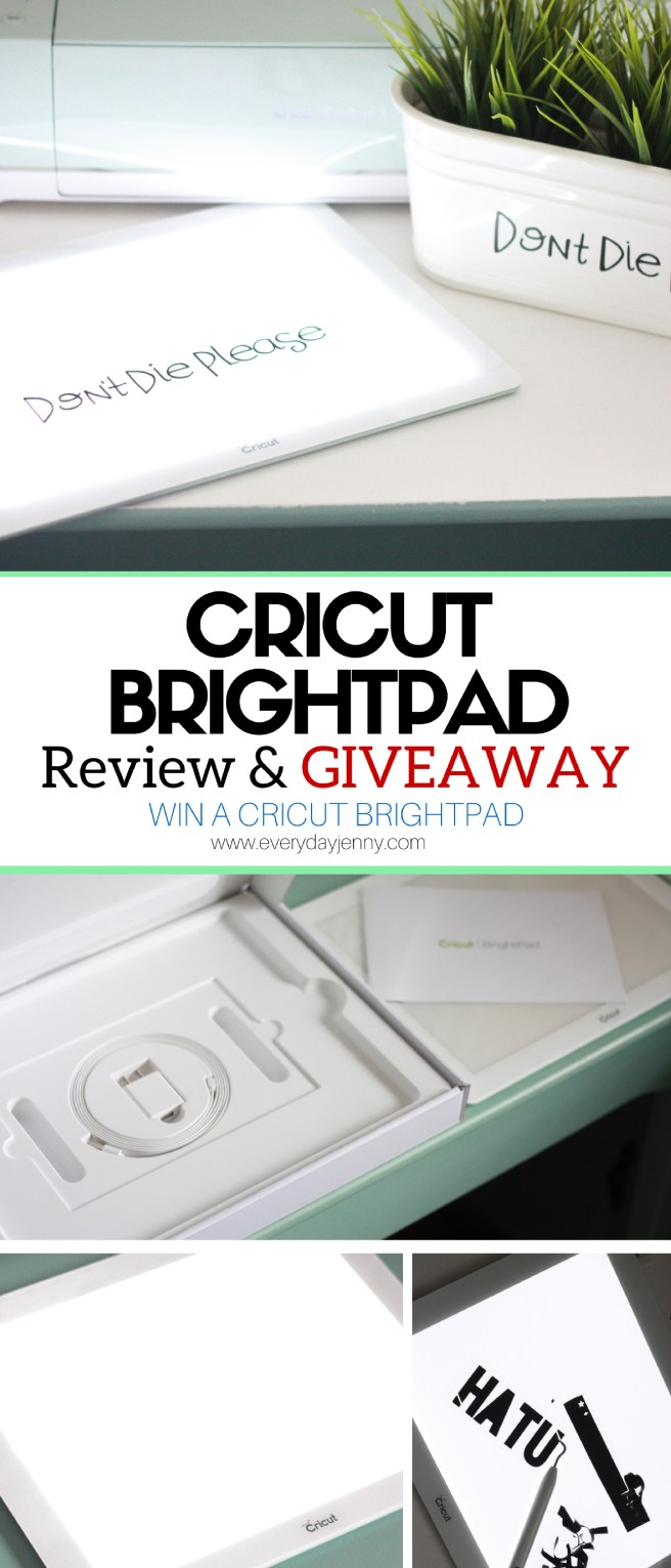 Wondering about the new Cricut BrightPad? Read the review and enter to win one for yourself!