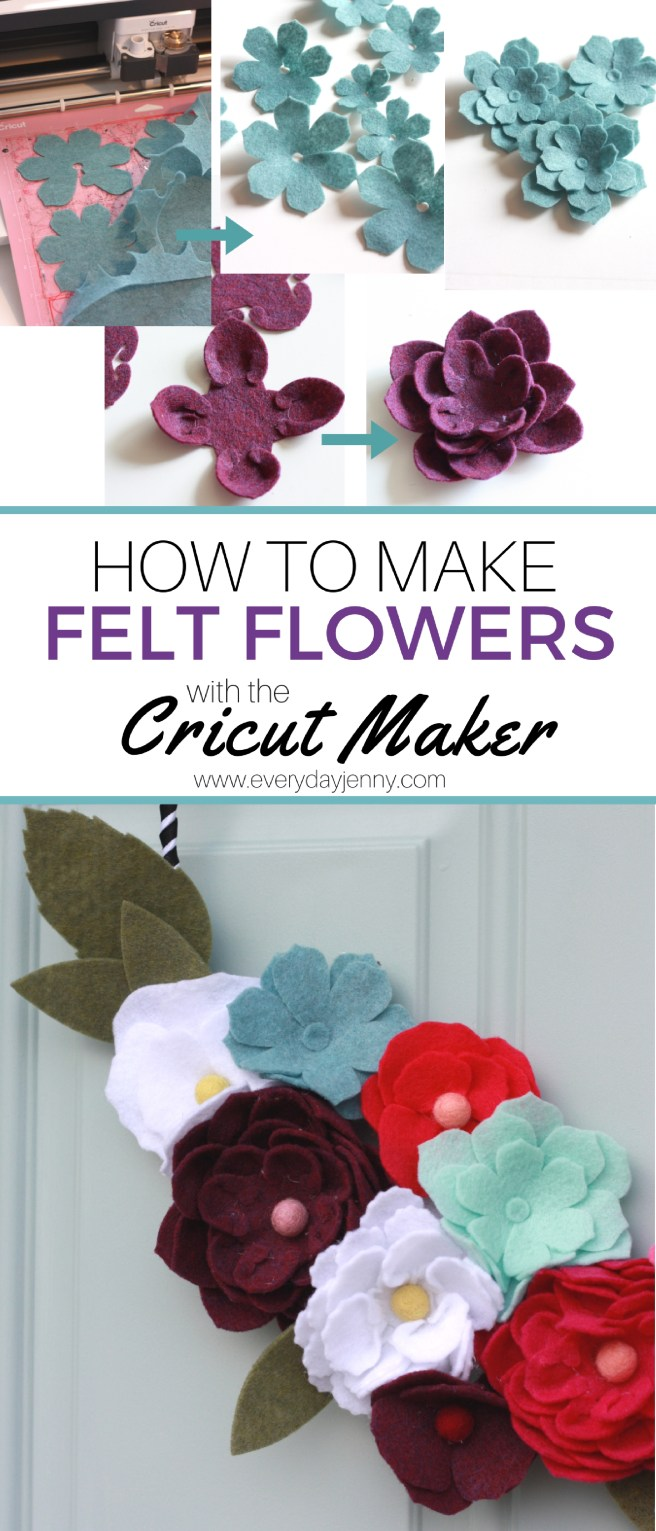 How to make felt flowers with your Cricut Maker. #Cricut #CricutMaker