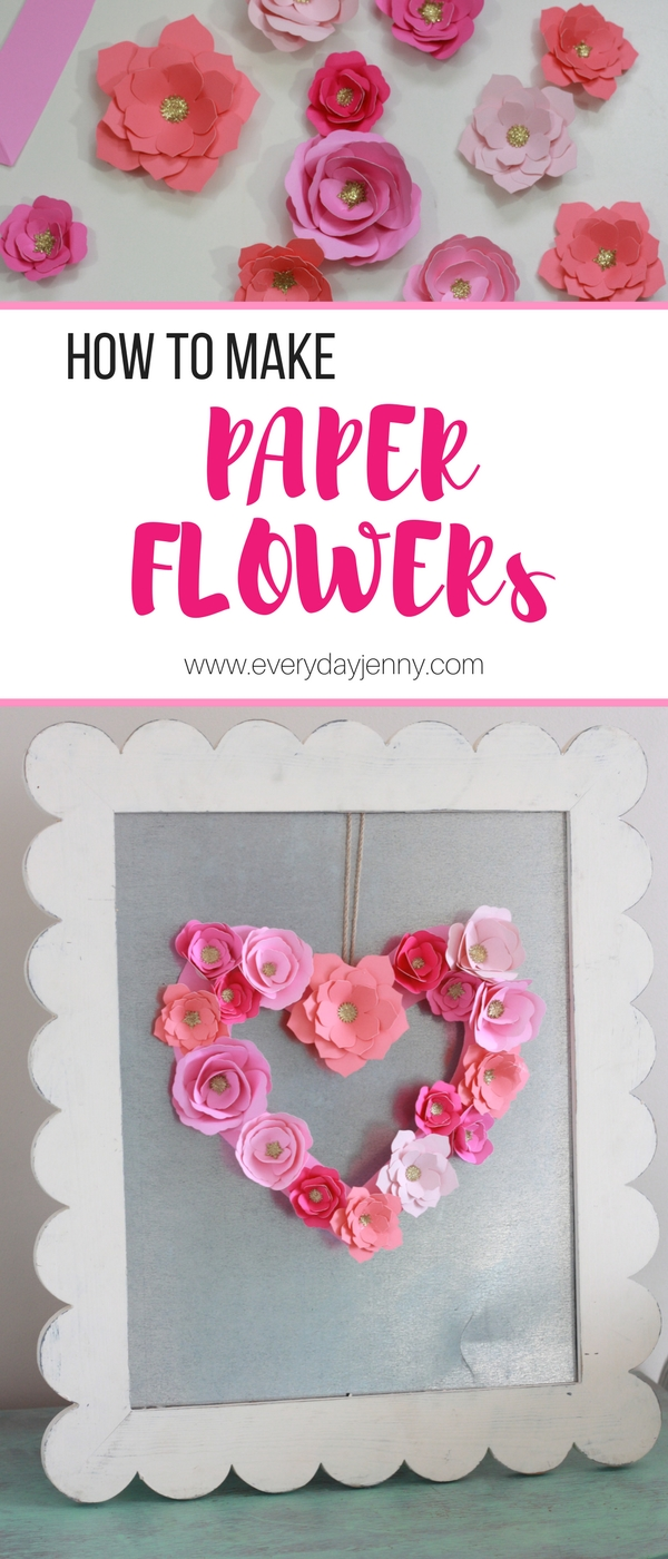 How to make paper flowers with your cricut everyday jenny easy tutorial for how to make beautiful paper flowers with your cricut this paper flower mightylinksfo