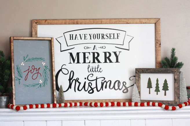 Christmas Signs.Diy Farmhouse Wood Christmas Signs With Cricut Everyday Jenny