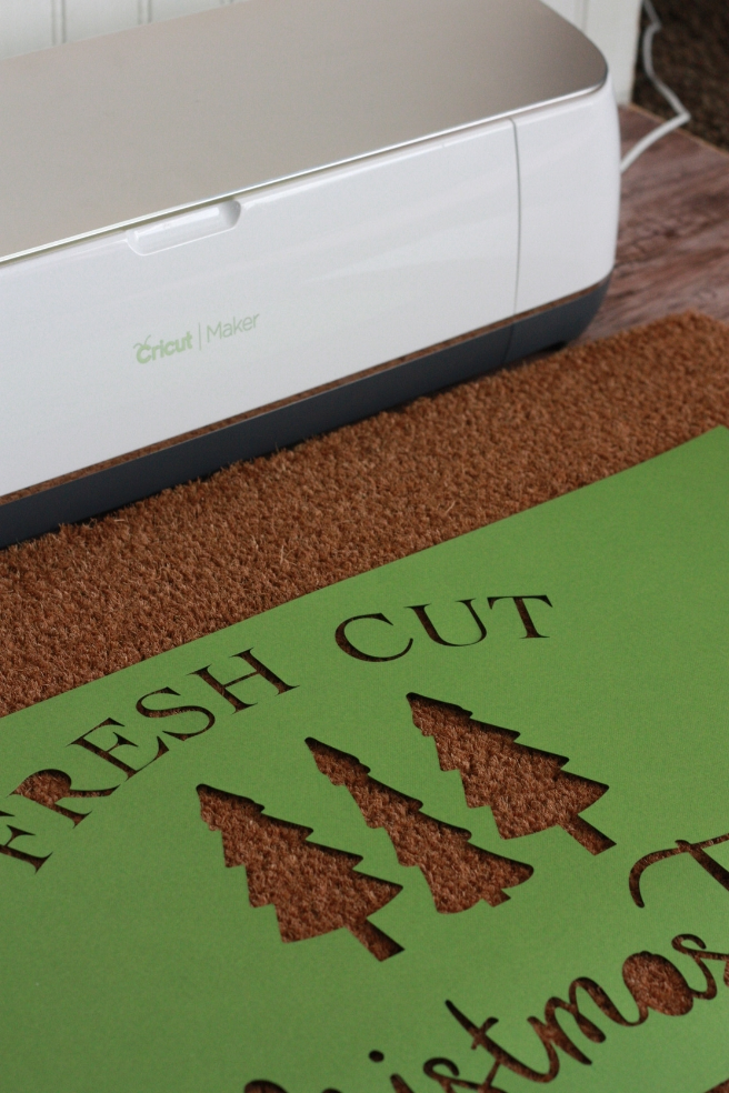 Diy Stenciled Doormat With Cricut Everyday Jenny