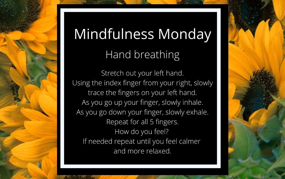 Mindfulness Monday-How to do Hand Breathing