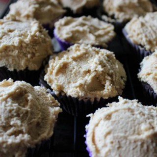Egg Free Chocolate Cupcakes with Peanut Butter Frosting – Vegan Adaptable