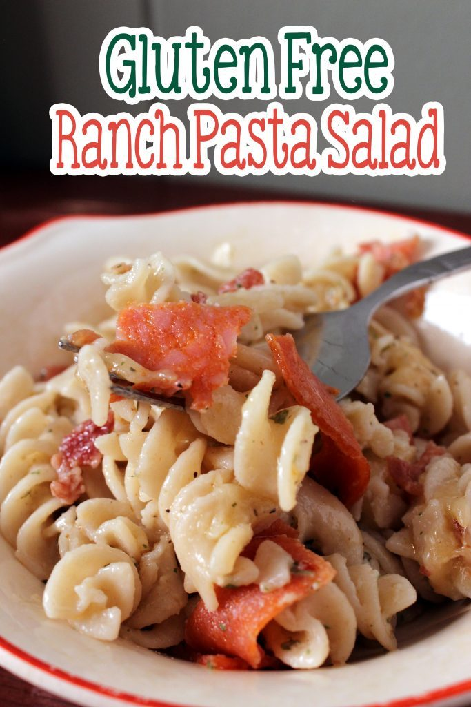 Gluten free ranch pasta salad tastes just like the boxed pasta salads, only better for you!