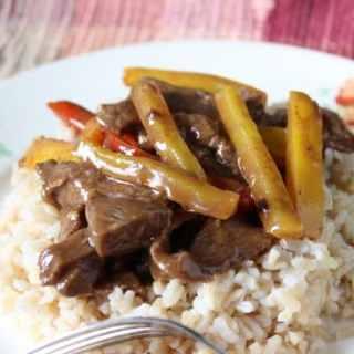Pepper Steak and Rice