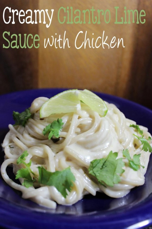 Creamy Lime Cilantro Sauce with Chicken
