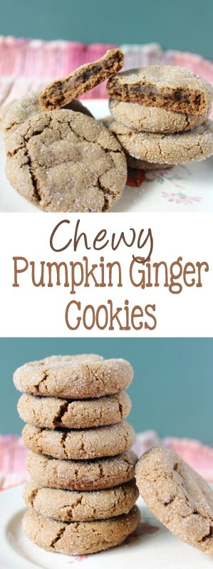 Flavors of pumpkin and ginger are strong in these pumpkin ginger cookies, that your whole family is going to love! | EverydayMadeFresh.com