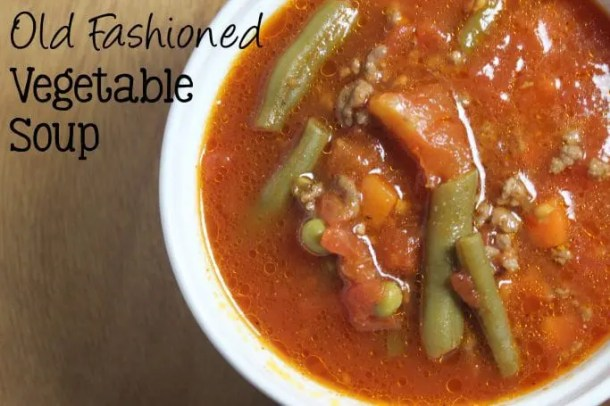 Old Fashioned Vegetable Soup | EverydayMadeFresh.com