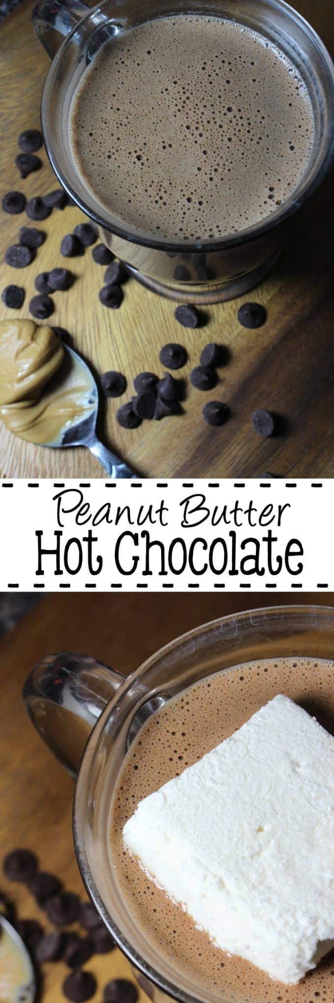 Peanut Butter Hot Chocolate   EverydayMadeFresh.com
