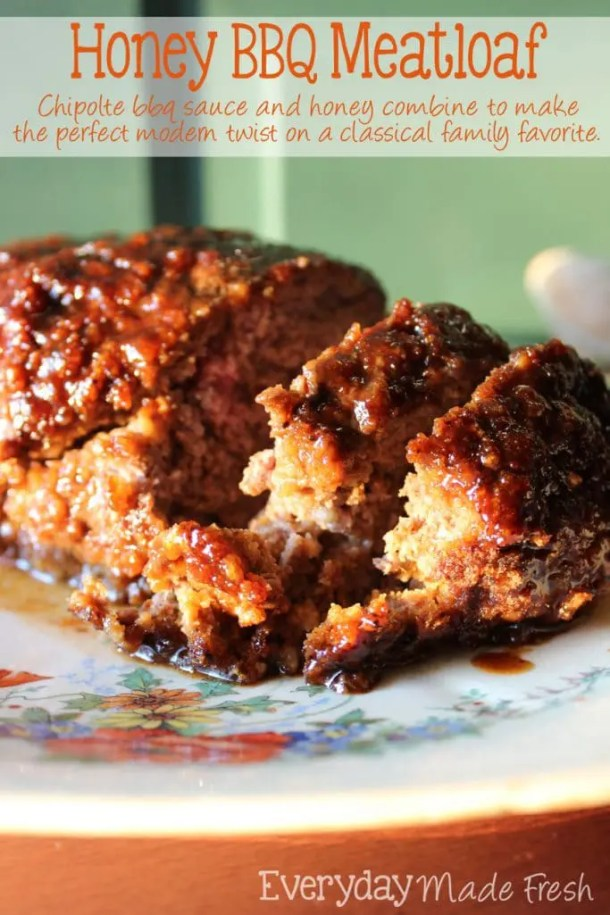 Honey BBQ Meatloaf   EverydayMadeFresh.com
