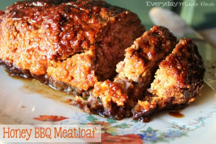 Honey BBQ Meatloaf | EverydayMadeFresh.com