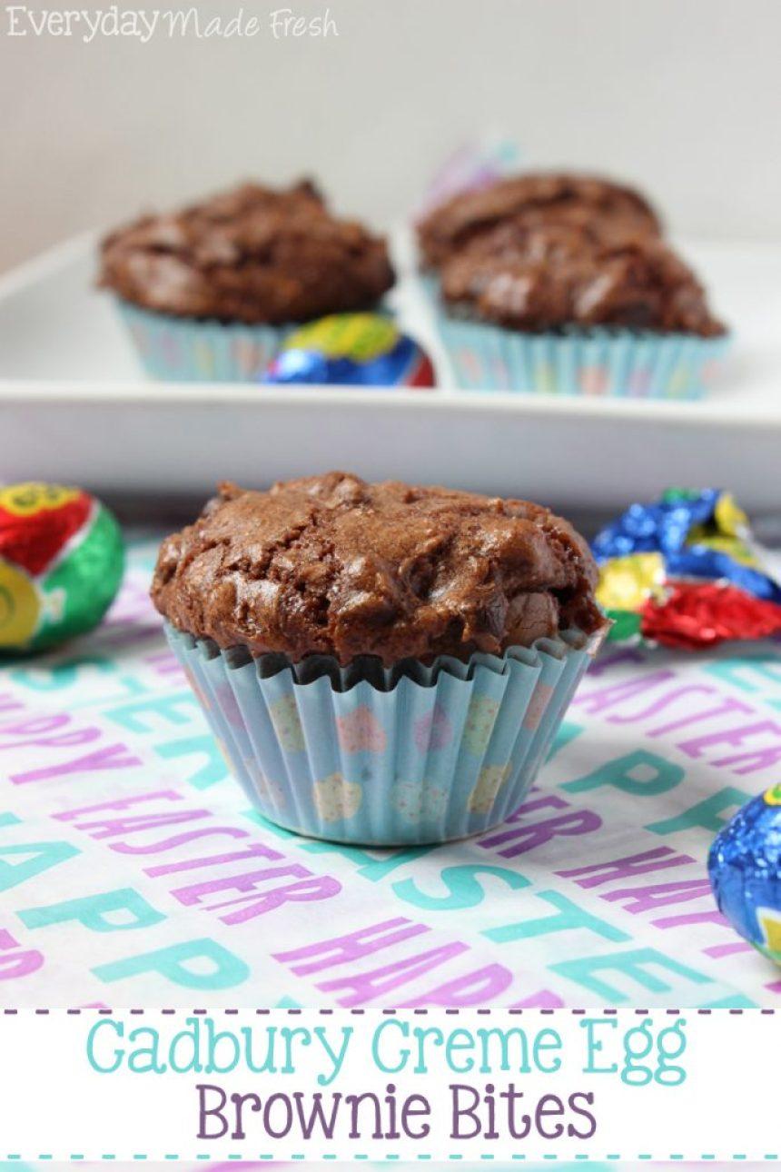Cadbury Creme Egg Brownie Bites | EverydayMadeFresh.com