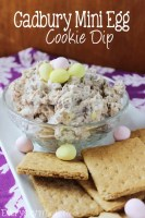 Cadbury Mini Egg Cookie Dip