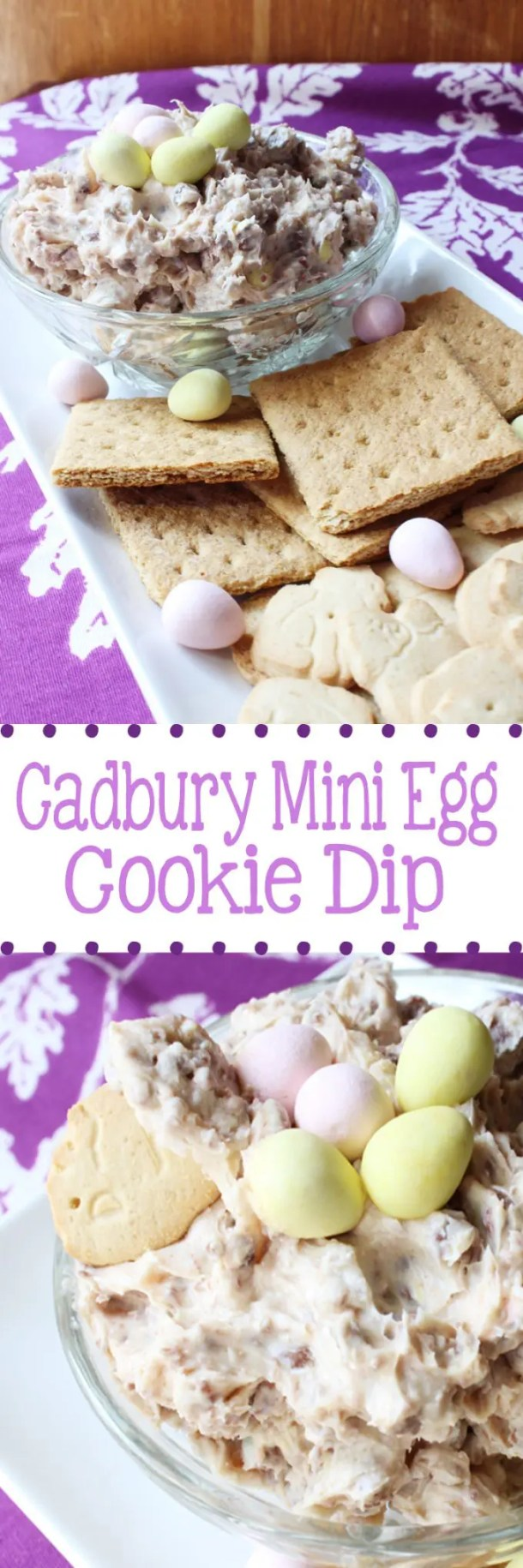 Cadbury Mini Egg Cookie Dip for Easter | EverydayMadeFresh.com