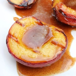Grilled Peaches with Cinnamon Honey Sauce