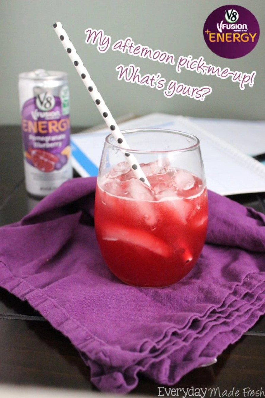 V8 Fusion Afternoon Pick Me Up #CampbellSavings #ad | EverydayMadeFresh.com