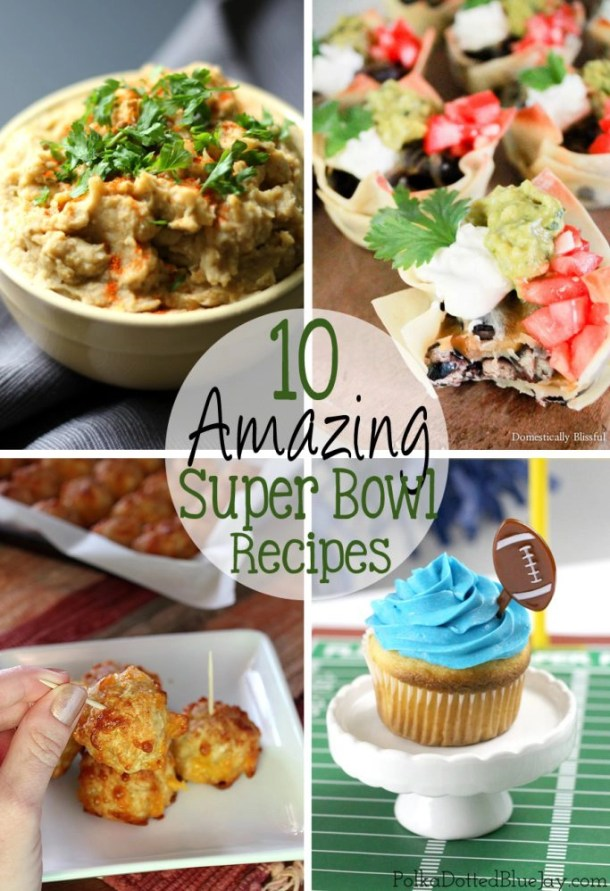 The big game is coming up in just a few days and I've put together 10 Amazing Super Bowl Recipes that are simple to make, and everyone will love!  | EverydayMadeFresh.com