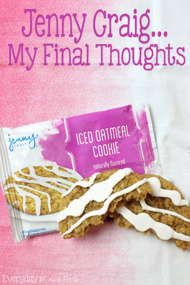 Jenny Craig My Final Thoughts I've been on Jenny Craig for a month, and today I'm sharing with y'all my final thoughts as I say goodbye to the program! | EverydayMadeFresh.com