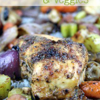 One Pan Jerk Chicken & Veggies