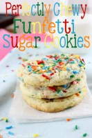 Perfectly Chewy Funfetti Sugar Cookies