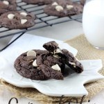 Fudgy, chewy, and with the perfect baking chips - These Caramel Chip Chocolate Cookies are perfect in every way! | EverydayMadeFresh.com