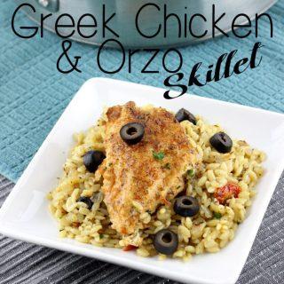 Greek Chicken & Orzo Skillet