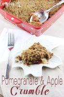 Pomegranate & Apple Crumble