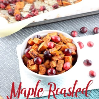 Maple Roasted Sweet Potatoes and Cranberries