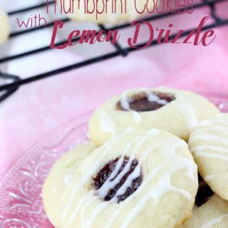 Raspberry Thumbprint Cookies with Lemon Drizzle