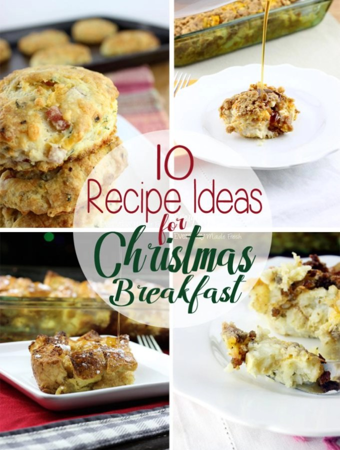 Santa is on his way and the last thing you need to worry about is a holiday breakfast. Here are 10 Recipe Ideas for Christmas Breakfast that are family pleasing and can be made the night before, or little to no time in the morning. | EverydayMadeFresh.com