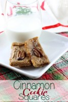 Cinnamon Cookie Squares