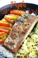 Fajita Salmon Rice Bowl