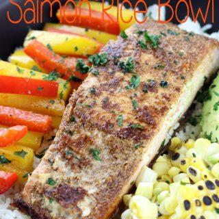 Fajita Salmon Rice Bowl