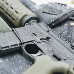 AR-15 in on a snowy day