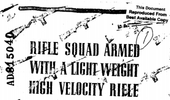 Early Testing of AR-15 Performance in Combat